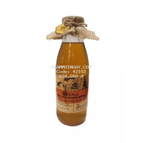100% mật ong Khoái rừng thiên nhiên, chai 1000 ML