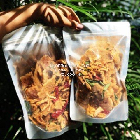1kg CƠM CHÁY LẮC KHÔ GÀ (đóng 2 túi zip 500g)
