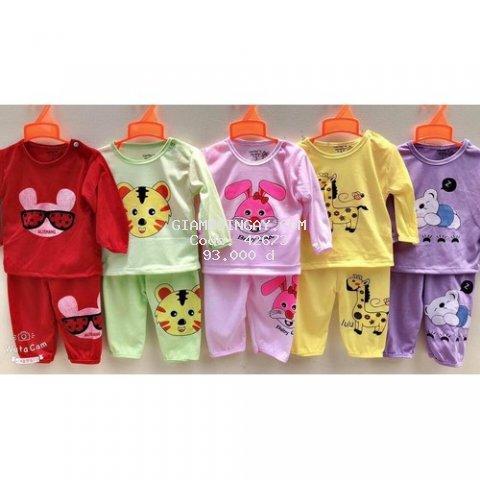 5 bộ quần áo trẻ em - quần áo cho bé cotton dài chui