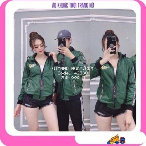 Áo khoác cặp nam nữ chống nắng vải dù đẹp có nón chùm hàng xưởng mới 2021 mã AKC
