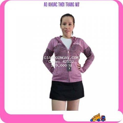 Áo khoác chống nắng nữ mẫu thể thao vải thun lạnh có mũ chùm mới 2021 mã AKTT