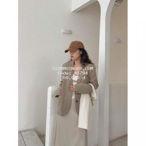 Áo Khoác Vest Gingham Nữ Cực Chất!!