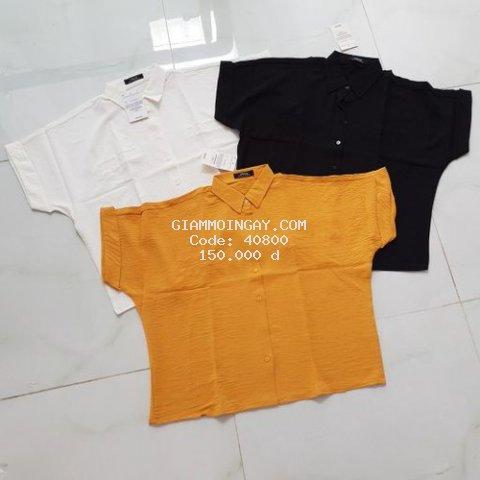 Áo kiểu VNXK chất vải mềm mịn, thoáng mát, không nhăn, đường may kỹ, phom áo dễ mặc