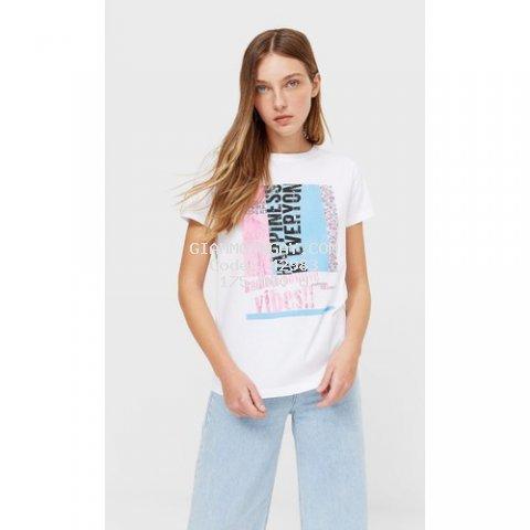 Áo phông nữ ngắn tay Vibes đơn giản mà cực xinh chất cotton đẹp