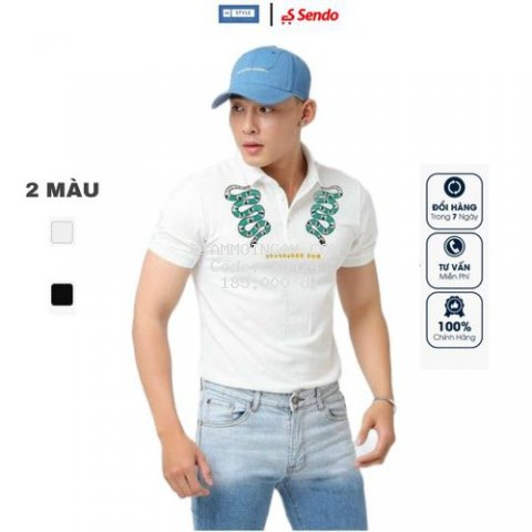 ÁO POLO IN HOẠ TIẾT CON RẮN COTTON - MANLY STYLE
