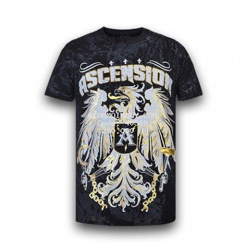 Áo Thun ASCENSION phong cách Rock ép Nhũ độc lạ bụi bặm, vnxk 100% Cotton.