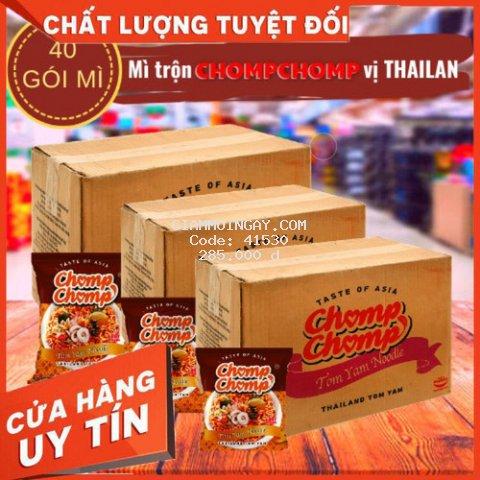 BÁN MÌ TRỘN CHOMPCHOMP hương vị tomyum THAILAND mì cay trộn khô NGON NGON