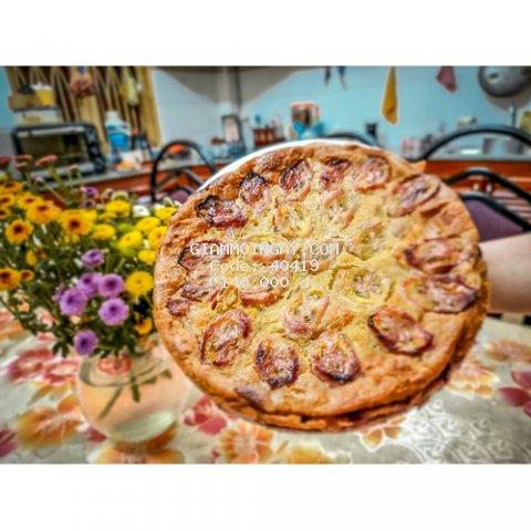 Bánh chuối nướng - Banana cake hình tròn 1k5 giao nhanh