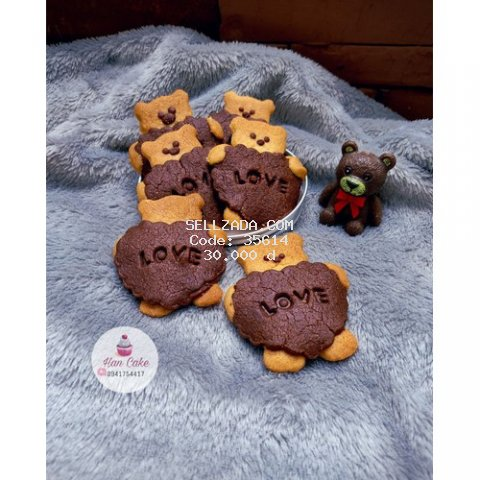 Bánh Quy Bơ Gấu Love