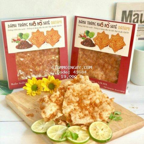 Bánh tráng nướng khô bò sate 65g - Datami
