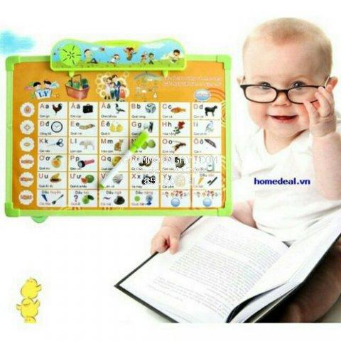 Bộ bảng học chữ cho bé.Bảng gồm 5 tờ với 11 chủ đề cho bé chơi và học