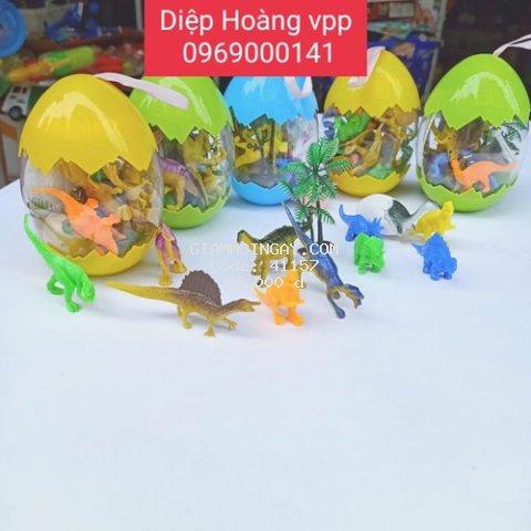 Bộ đồ chơi trứng khủng long gồm nhiều chú khủng long bên trong cho bé