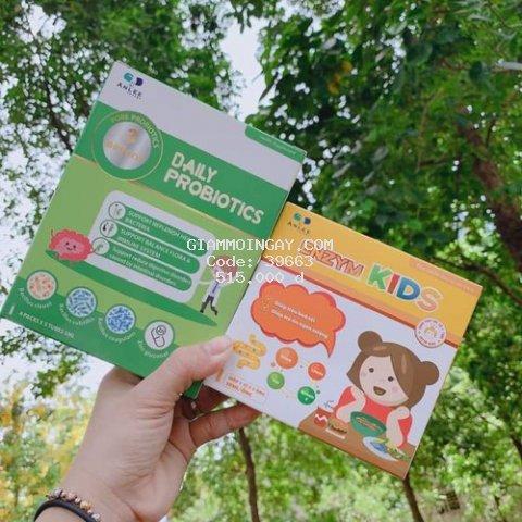 Bộ đôi có cánh Daily Probiotics và Enzym Kids - xóa tan biếng ăn, táo bón, đề kháng kém ở trẻ em
