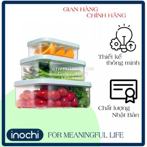 Bộ hộp thực phẩm chữ nhật Hokkaido 750-1500-2500ml - BO01ZZ1