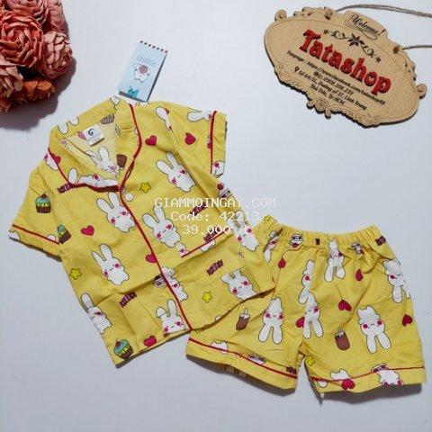 Bộ quần áo pijama tay ngắn bé trai bé gái