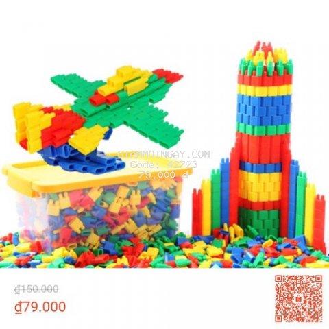 Bộ xếp hình phát triển trí tuệ cho trẻ (400 chi tiết)