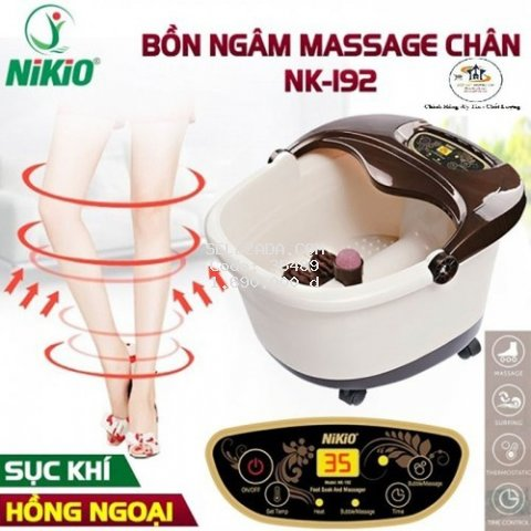 Bồn ngâm chân massage Nikio - Cải thiện giấc ngủ, giảm stress