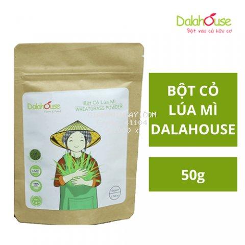 Bột Cỏ Lúa Mì Hữu Cơ Sấy Lạnh Dalahouse 50g