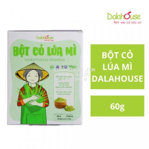 Bột Cỏ Lúa Mì Nguyên Chất Sấy Lạnh Dalahouse 60g (20 gói * 3g)