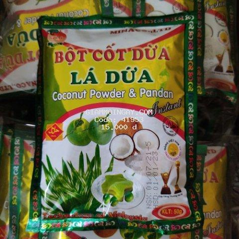 bột cốt dừa lá dứa