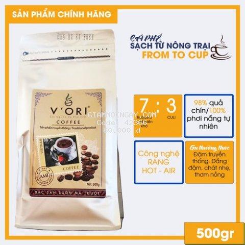 Cà phê nguyên chất Robusta Đắk Lắk Anak 500gr Cafe nguyên chất vị truyền thống được trồng nông trại đạt tiêu chuẩn VietGAP