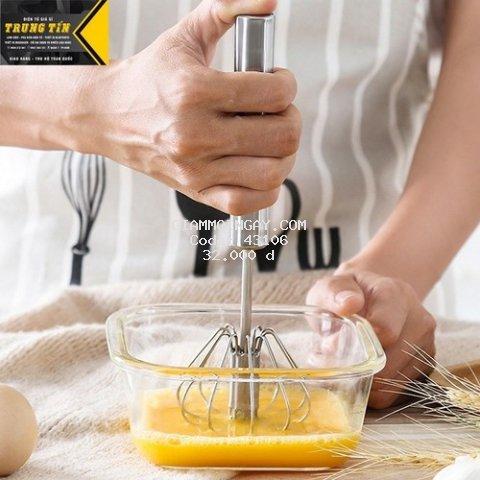 Cây đánh trứng xoay inox