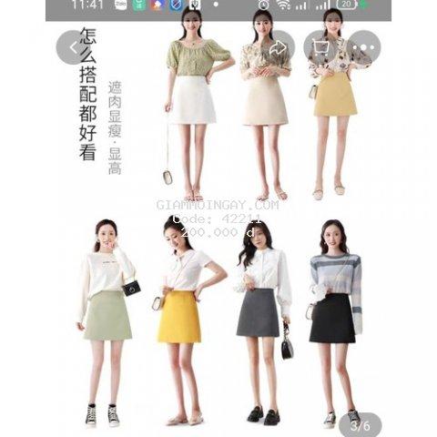 CHÂN Váy chữ A dáng trẻ trung năng động đủ màu sắc kiểu dáng 2021