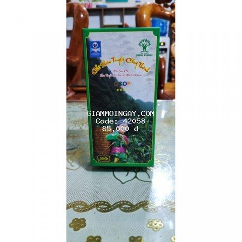 Chè shan tuyết Cổng Thành 200gram, được chọn lọc từ những cây chè cổ thụ hàng trăm năm tuổi của khu vực Công viên địa chất toàn cầu Cao nguyên đá Đồng Văn, tỉnh Hà Giang,.