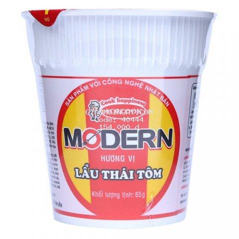 [Chỉ giao HCM] Thùng 24 ly Mì Modern lẩu Thái tôm 65g
