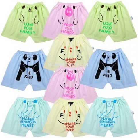 Combo 10 quần đùi lửng cho bé trai và bé gái