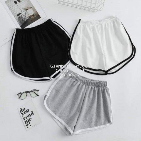 Combo 2 quần Short Nữ 100 % Thun Poly , Hết màu Xám