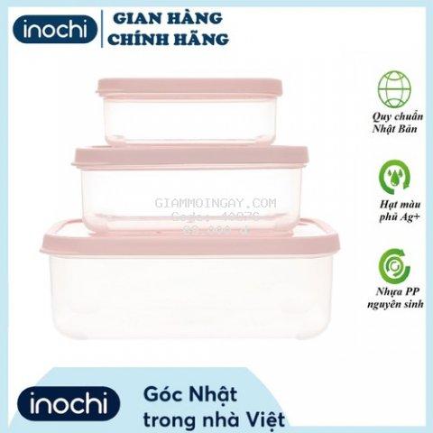 Combo 3 hộp nhưa thực phẩm chữ nhật không chứa BPA, an toàn tuyệt đối