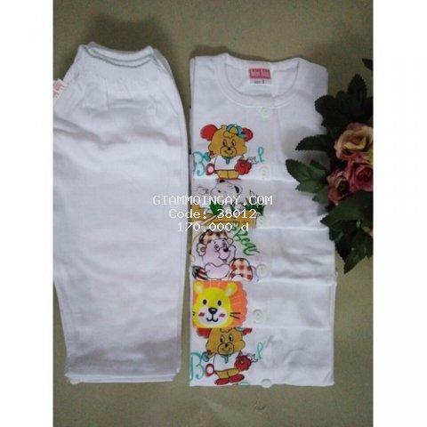 Combo 5 bộ đồ sơ sinh dài size 1 đến 5 cho bé từ 3kg đến 11kg