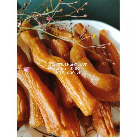combo:1kg/2 gói khoai lang mật sấy dẻo để nguyên củ.100% thành phần là khoai lang .ko chất phụ gia .ko chất bảo quản