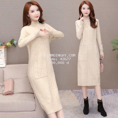 Đầm len nữ tay dài 1D3131