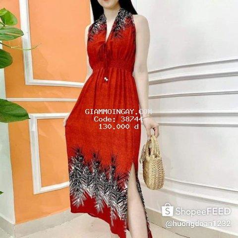 Đầm maxi hoạ tiết đẹp