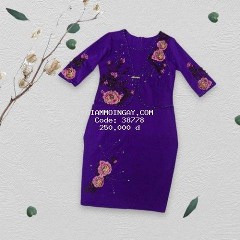 Đầm vest hoa thêu sang trọng