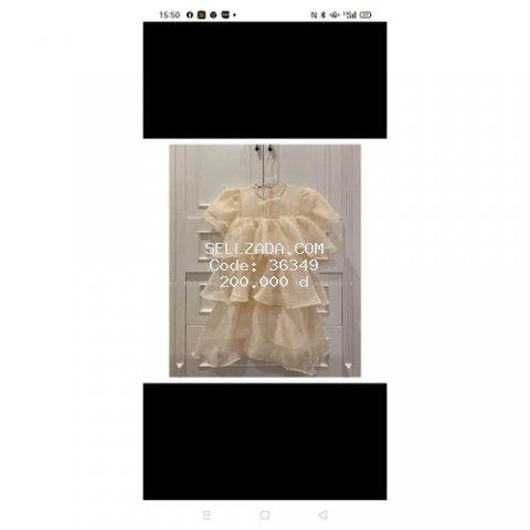 Đầm voan tơ hàng Quảng châu