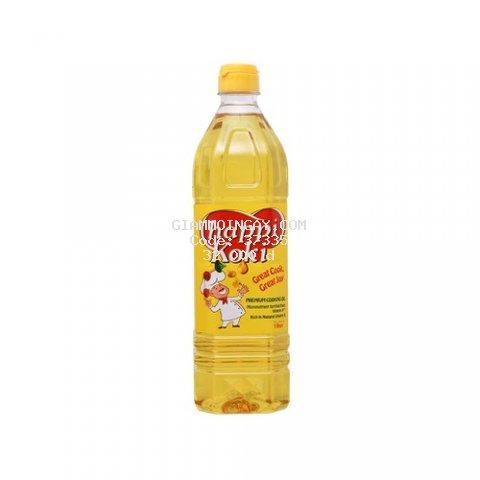 Dầu ăn cao cấp Happi Koki chai 1 lít