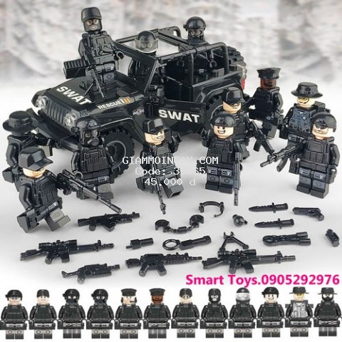 Đồ chơi Lego HỘP NHỎ Đặc nhiệm/Máy bay/xe Tăng/xe môtô/Tàu chiến