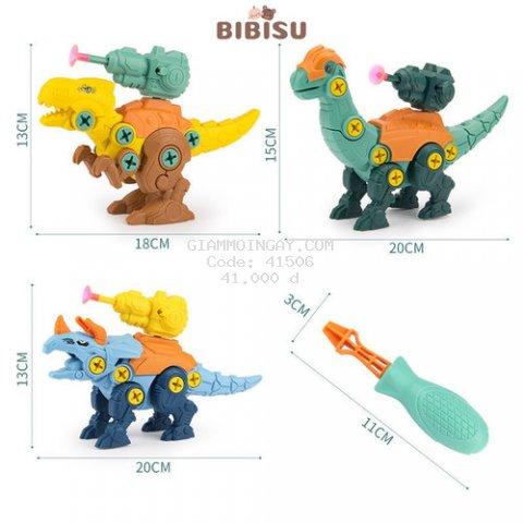 Đồ chơi mô hình khủng long, Đồ chơi lắp ghép bé trai Bibisu Shop