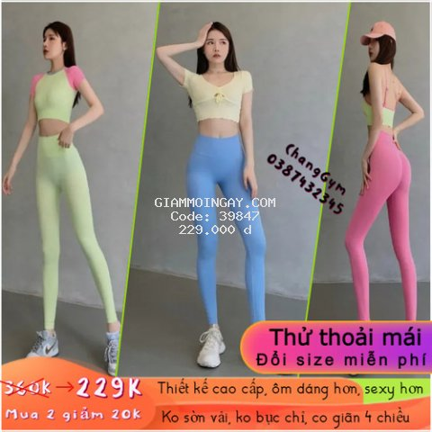 [Đồ tập cao cấp] Quần tập gym nữ, quần legging nữ, Lưng cao, Chun mông, Ôm sát, Tôn dáng, Co giãn 4 chiều.