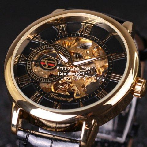 Đồng hồ cơ nam Forsining Handwinding H099M DÂY DA lộ máy