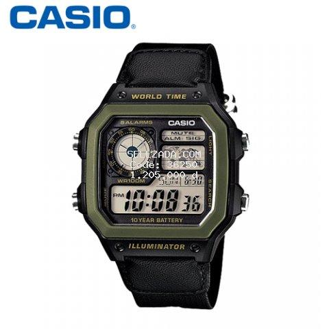 Đồng hồ nam Casio AE-1200WHB-1BVDF quân đội - Hàng chính hãng
