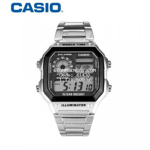Đồng hồ nam Casio AE-1200WHD-1AVDF - Pin 10 năm