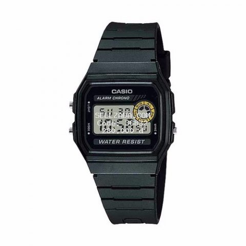 Đồng hồ nam CASIO F-94WA-8DF kính khoáng dây cao su đen