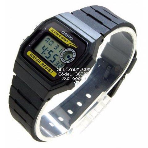 Đồng hồ nam CASIO F-94WA-9DG  kính khoáng dây cao su đen