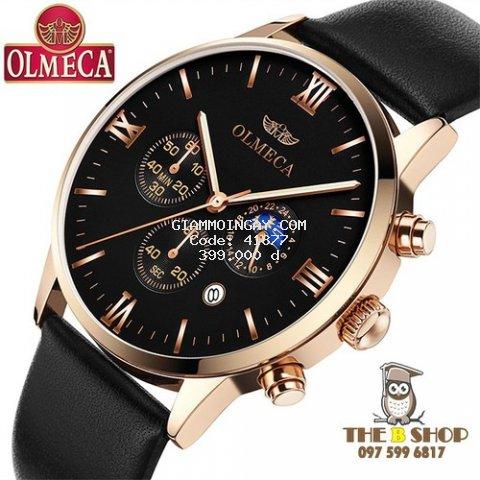 Đồng hồ nam dây da cao cấp Olmeca7 6 kim