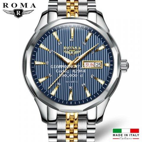 Đồng hồ Nam ROMA ITALY Kính Tráng Sapphire – Dây DEMI Đúc Đặt Đẳng Cấp