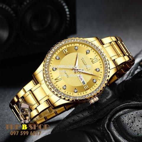 Đồng hồ nam thời trang dây thép Tisselly chính hãng có 2 lịch full box